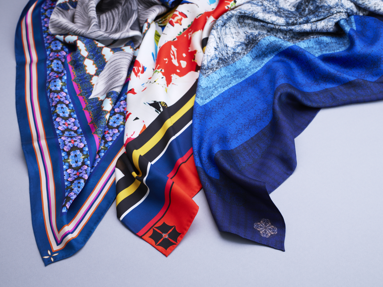 Jim Thompson Thai Silk scarf collection designed by LVK